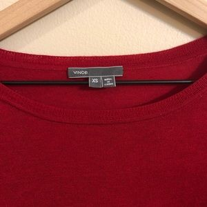 Vince Sweaters - Vince Red Crew Neck Long Sleeve Sweater Size XS